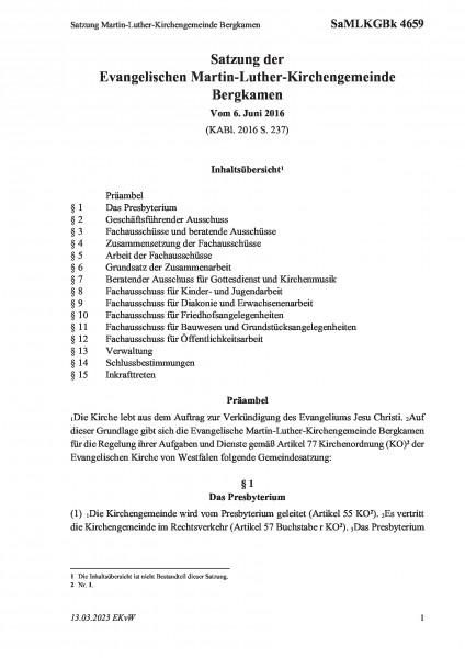 4659 Satzung Martin-Luther-Kirchengemeinde Bergkamen