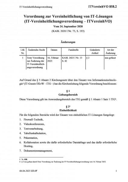 858.2 IT-Vereinheitlichungsverordnung
