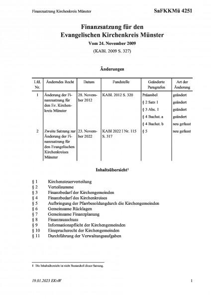 4251 Finanzsatzung Kirchenkreis Münster