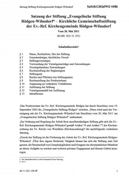 4486 Satzung Stiftung Kirchengemeinde Rödgen-Wilnsdorf