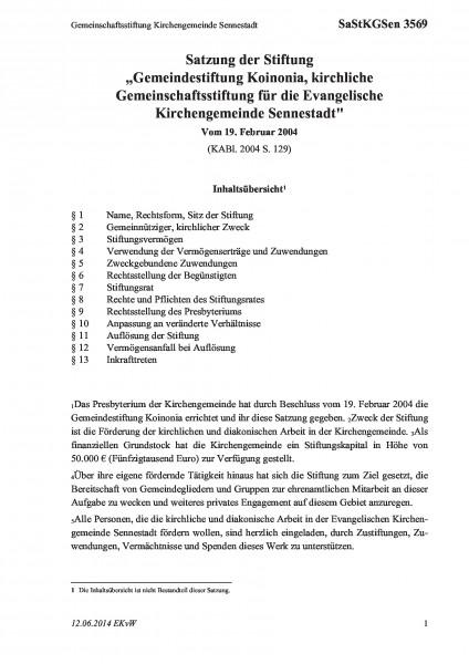 3569 Gemeinschaftsstiftung Kirchengemeinde Sennestadt