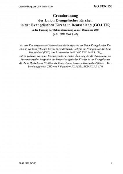 150 Grundordnung der UEK in der EKD