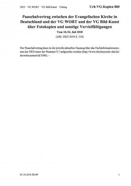 860 EKD – VG WORT – VG Bild-Kunst – Vertrag
