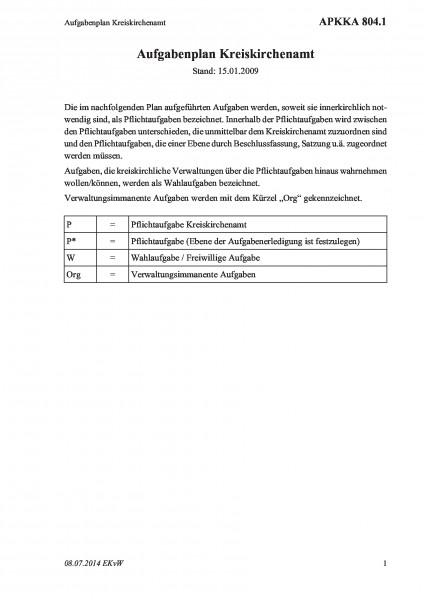 804.1 Aufgabenplan Kreiskirchenamt