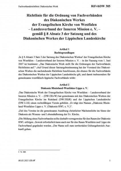305 Fachverbandsrichtlinie Diakonisches Werk
