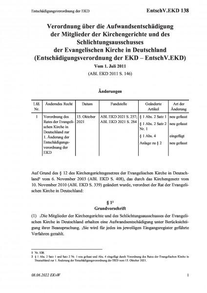 138 Entschädigungsverordnung der EKD
