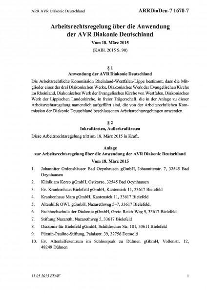 1670-7 ARR AVR Diakonie Deutschland