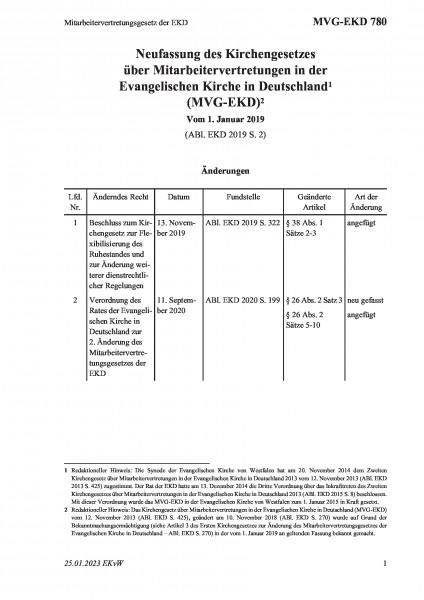780 Mitarbeitervertretungsgesetz der EKD