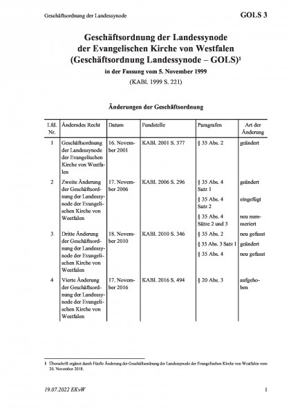 3 Geschäftsordnung der Landessynode