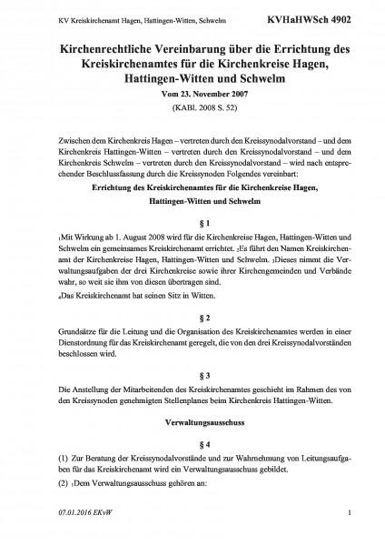 4902 KV Kreiskirchenamt Hagen, Hattingen-Witten, Schwelm