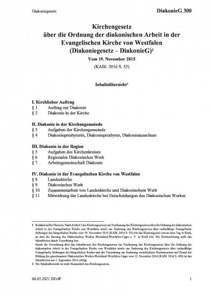 300 Diakoniegesetz