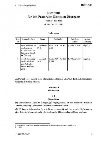 508 Richtlinie Übergangsdienst