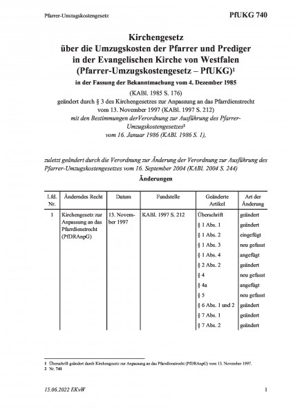 740 Pfarrer-Umzugskostengesetz