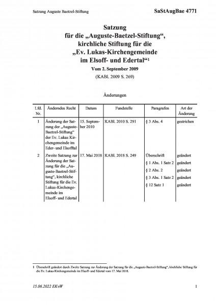 4771 Satzung Auguste Baetzel-Stiftung