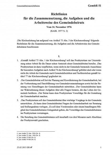 51 Gemeindebeiratsrichtlinien