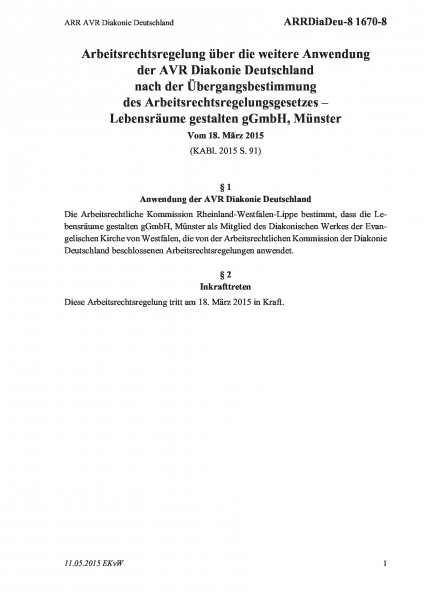 1670-8 ARR AVR Diakonie Deutschland