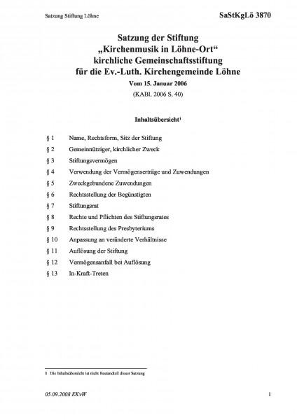 3870 Satzung Stiftung Löhne