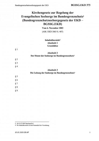 373 Bundesgrenzschutzseelsorgegesetz der EKD
