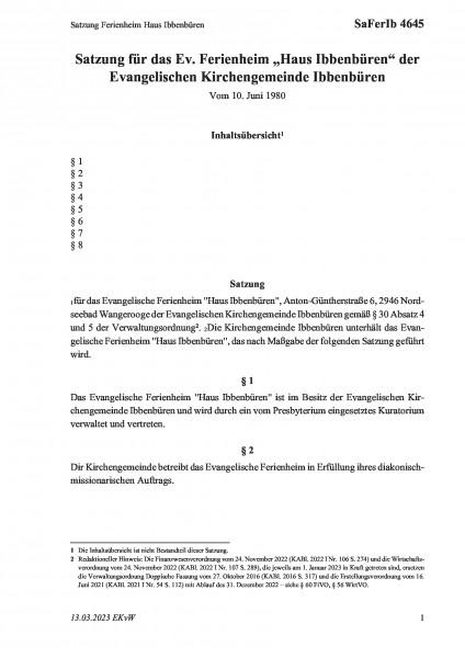 4645 Satzung Ferienheim Haus Ibbenbüren