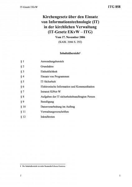 858 IT-Gesetz EKvW