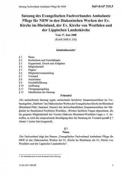 310.3 Satzung Fachverband Ambulante Pflege für NRW
