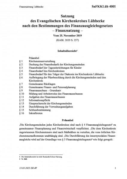 4001 Finanzsatzung Lübbecke