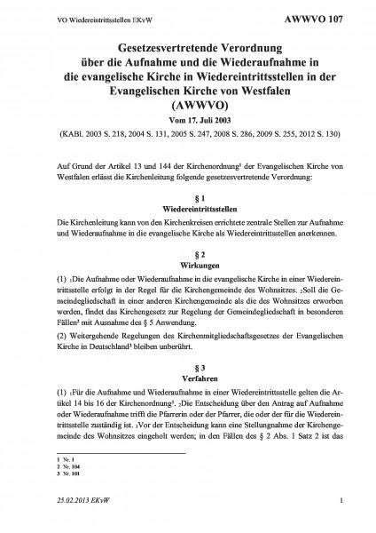 107 VO Wiedereintrittsstellen EKvW