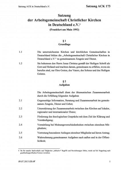 173 Satzung ACK in Deutschland e.V.