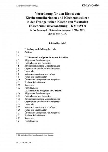 626 Kirchenmusikverordnung